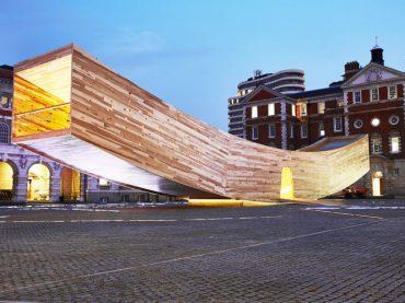 'The Smile' อาคารหน้ายิ้ม จากไม้แปรรูป CLT